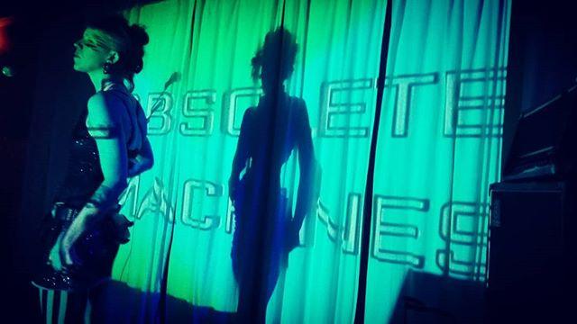 Last night at @swandiveaustin was 🖤🖤🖤 #ObsoleteMachines  #OM #ElectroPop #Austin #ATX