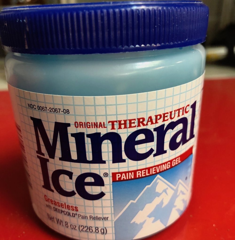 Mineral Ice (Recovery)  Theragesic works also.