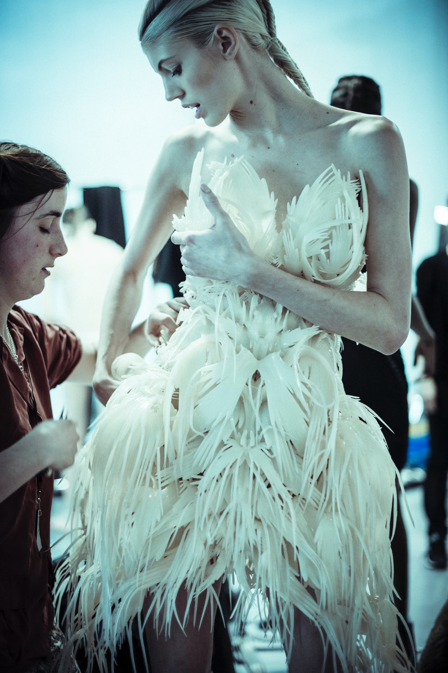 Iris Van Herpen AW14, Backstage, 4th March 2014 Shot By Morgan O'Donovan