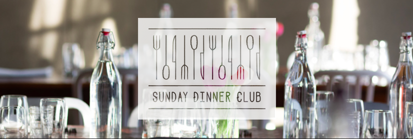 Sunday Dinner Club is a community of people who are connected to each other and come together to eat a multicourse  meal in a home setting