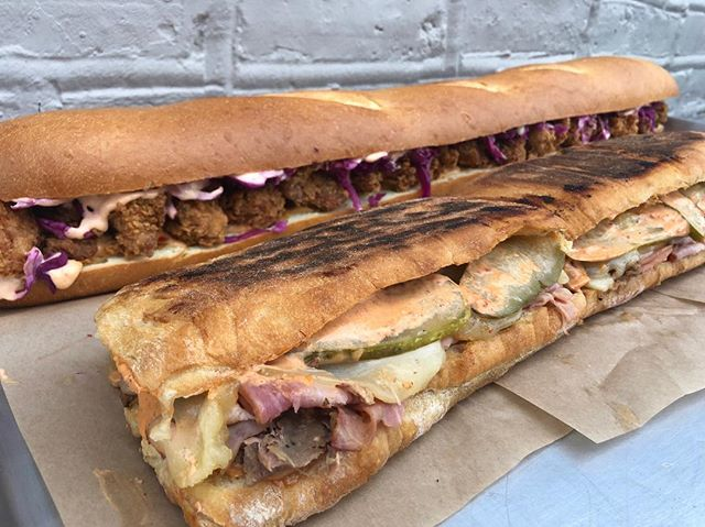 Hi guys! Miss the Cubano Sandwich? Us too. So we've teamed up with @honeybutterchi Catering to offer a 2ft Cubano ONLY for the BIG GAME on Sunday February 3rd. (You know - the SUPER one). HBFC's entire catering menu is also available, but ya gotta order in advance, so get on it! Order online, link in profile.