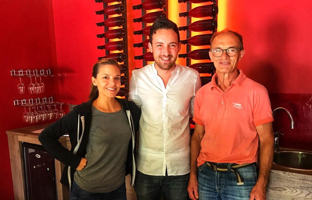 A visit to Domaine Joblot   One of Martin's favourite winemaker! His dad, Pascal worked for more than 10 years and now continuing the tradition. New generation Juliette and Martin have been working together since she took back the family winery in 2012.