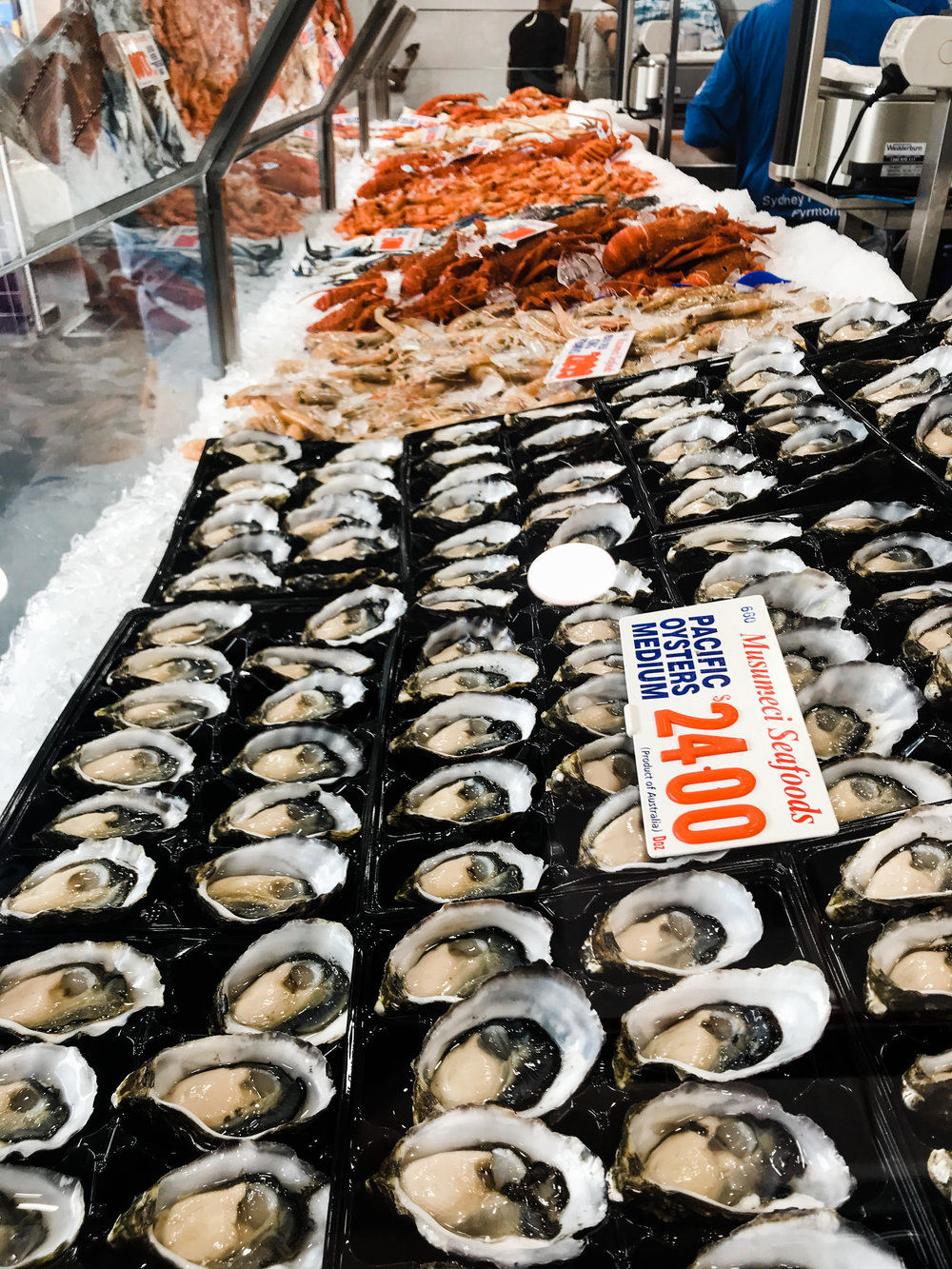 Fresh seafood at the Sydney Fish Market
