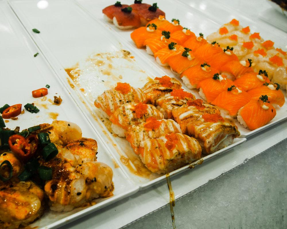 Fresh sushi at the Sydney Fish Market