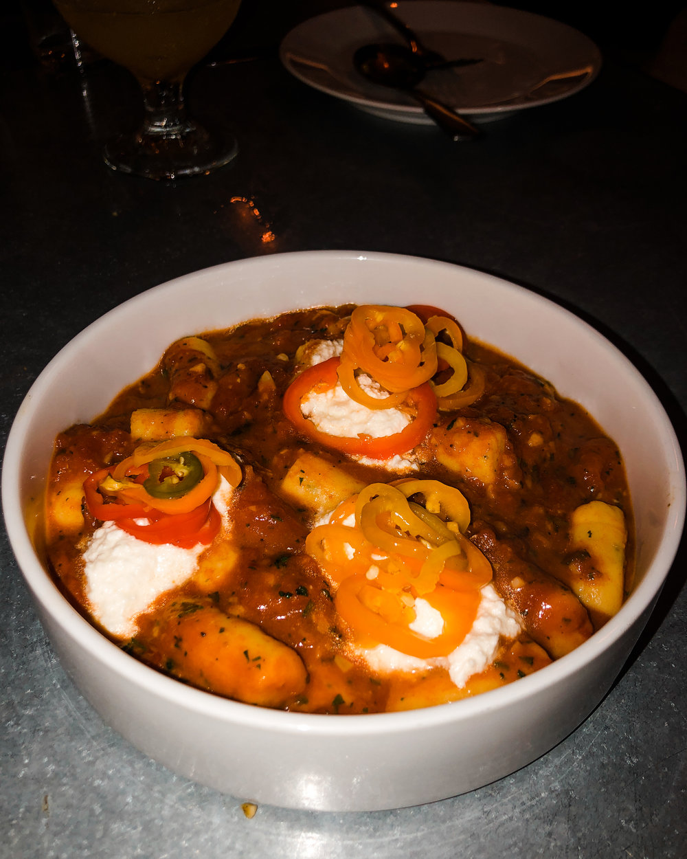 Gnocchi with smoked ricotta