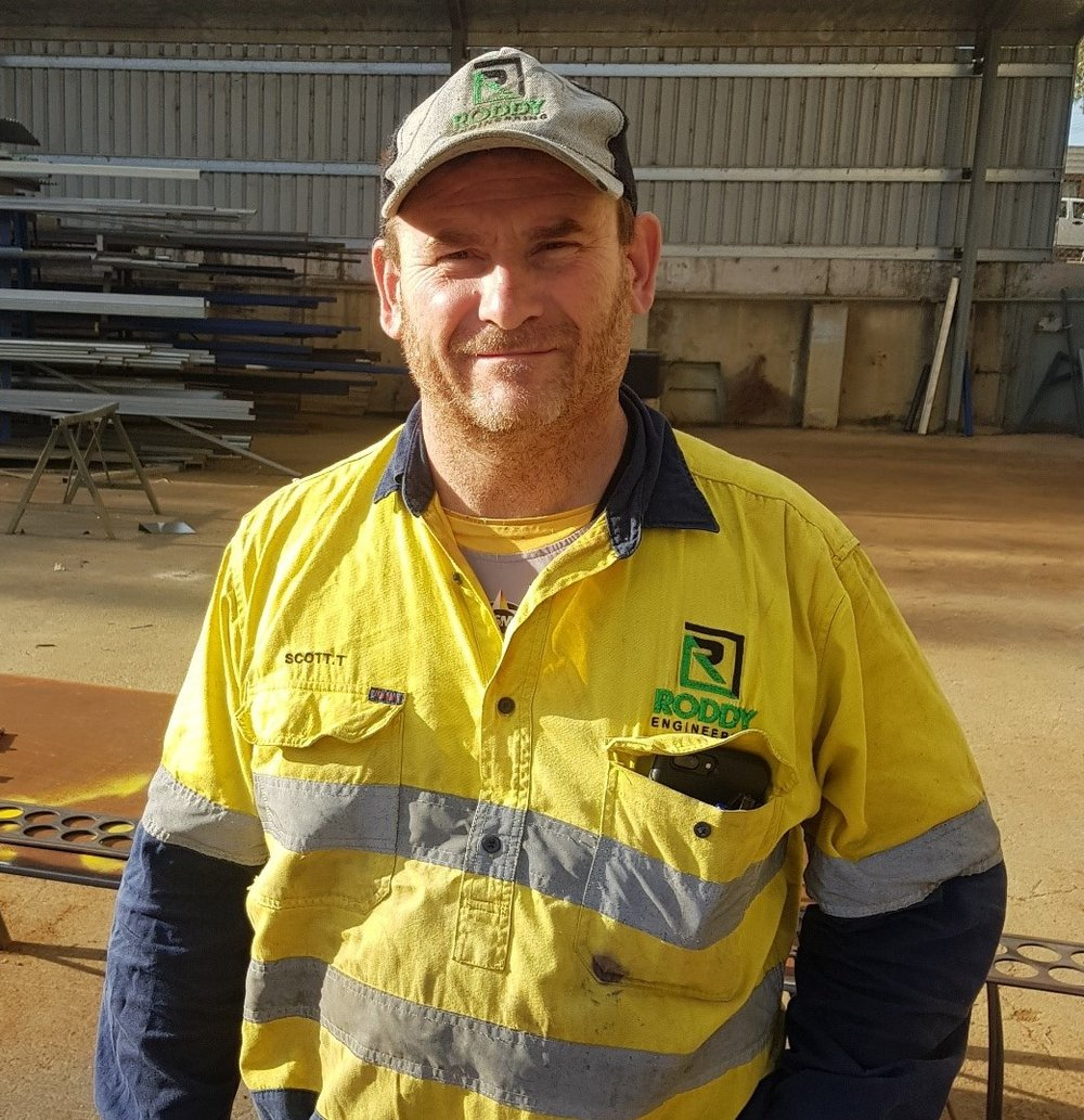 """SCOTT TUCKWELL: - """"I've worked in a lot of good places but Roddy has the best culture. The VISY shut this year was a great team effort."""""""