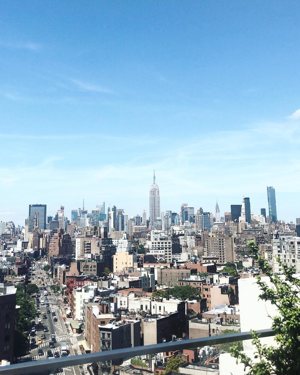 New York City views from the Squarespace office.
