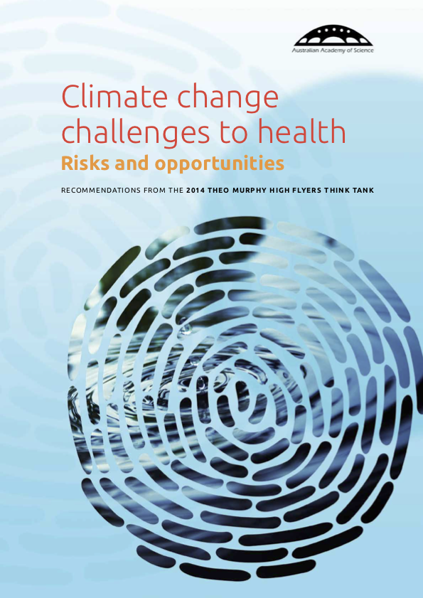 Climate change challenges to health: risks and opportunities (2015).