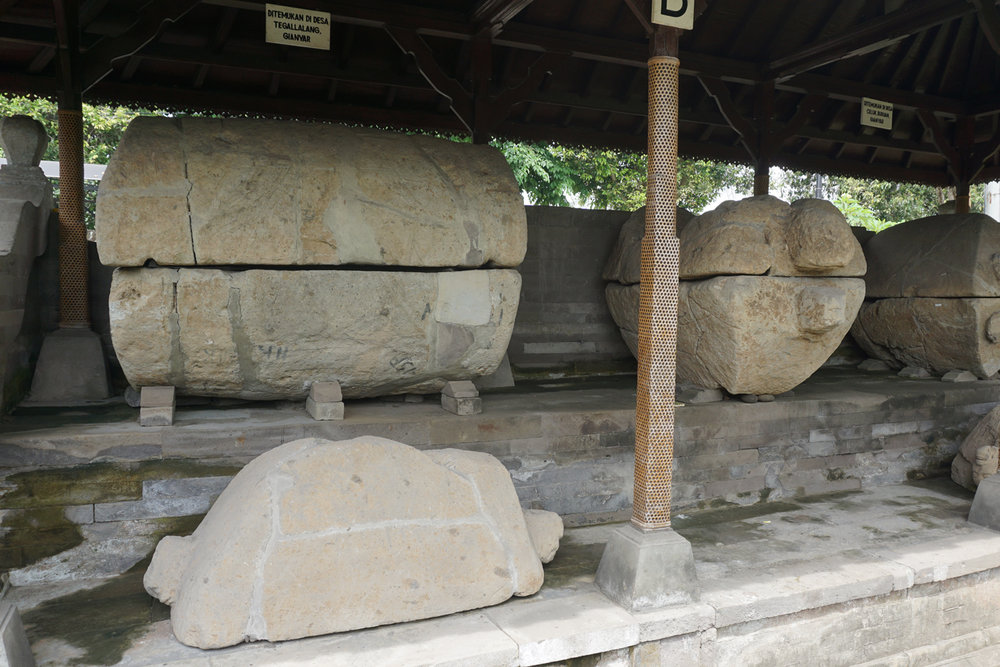 Stone Sacrophagi at Museum Gedong Arca / Photograph by Konservaction