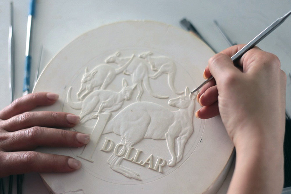 The minting process: hand sculpting / Photograph courtesy the RA Mint
