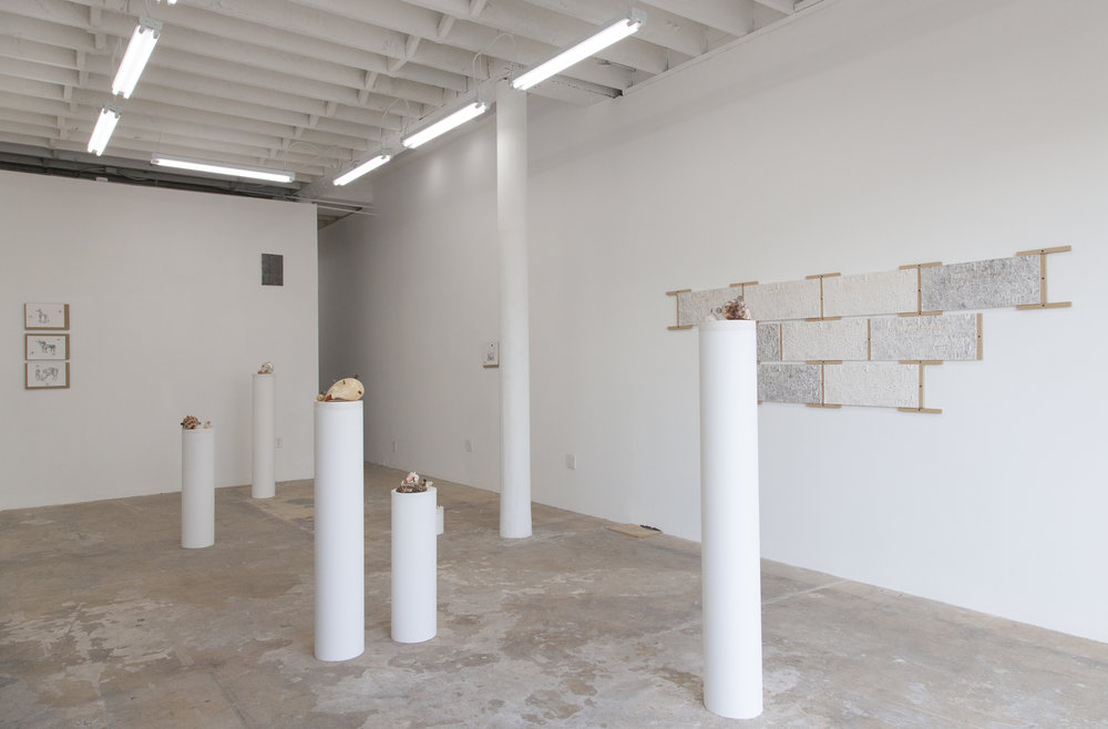Installation view of FOREWOR(L)D, 15 December 2018 - 12 January 2019. Courtesy of Make Room, Los Angeles.