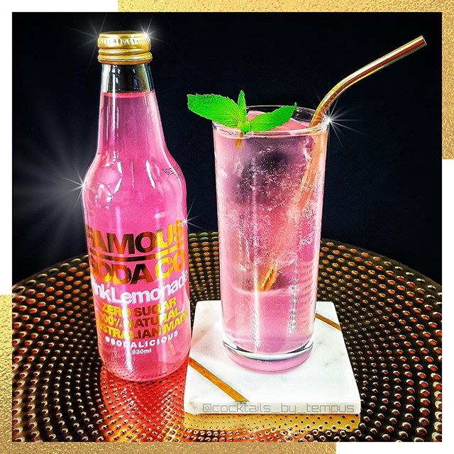 Real men drink Pink. 📸 @cocktails_by_tempus  Pink is a Man's Lemonade  1 ½ oz / 45ml - Lime @absolut_au Vodka ½ oz / 15ml - @malibu_rum  8 large Mint Leaves Top with @famoussodaco Pink Lemonade  Pour the first three ingredients into a shaker tin. Muddle to activate the mint. Pour into a glass with some clear ice cubes and top with some @famoussodaco Pink Lemonade. Garnish with some mint leaves. #sodalicious #famoussodaco  #pinklemonade #australiansoda#tastydrink #drinkstagram #drinkporn#drinkspiration #drinksofinstagram#thursdayvibes #thursdaymotivation#thirstythursday #cocktailtime#cocktailgram #cocktailplay#cocktailsofinstagram #cocktailoclock#cocktailporn #cocktailfun #imbibe#imbibegram #instadrink #homebar#homebartending #homebartender#vodkadrinks #rumcocktail