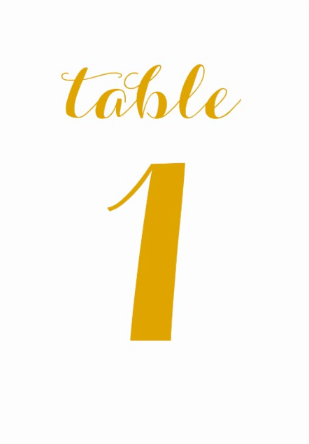 "Table number cards, 1 to 30 3.5""x5"""