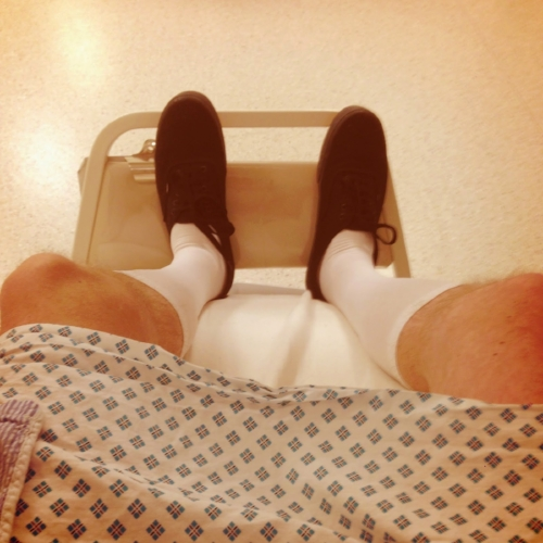 Sweet surgical stockings!