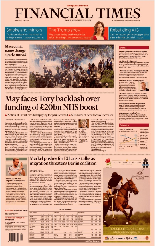 Financial Times - 18th June 2018