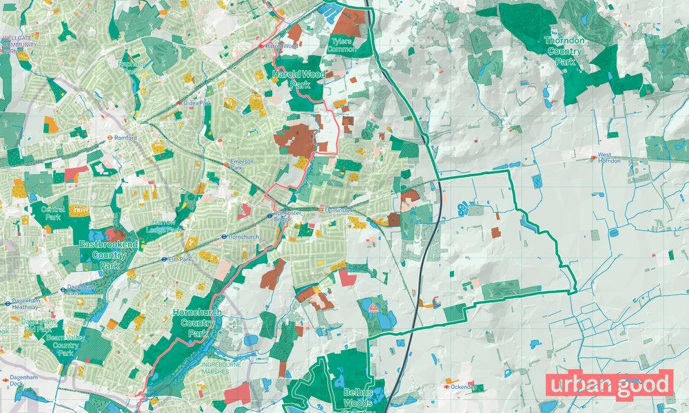 Map Of City Of London.London National Park City Map Folded Urban Good
