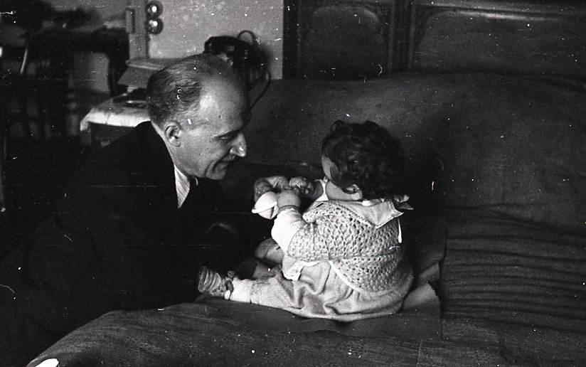 Georges et sa petite-fille à Courbevoie