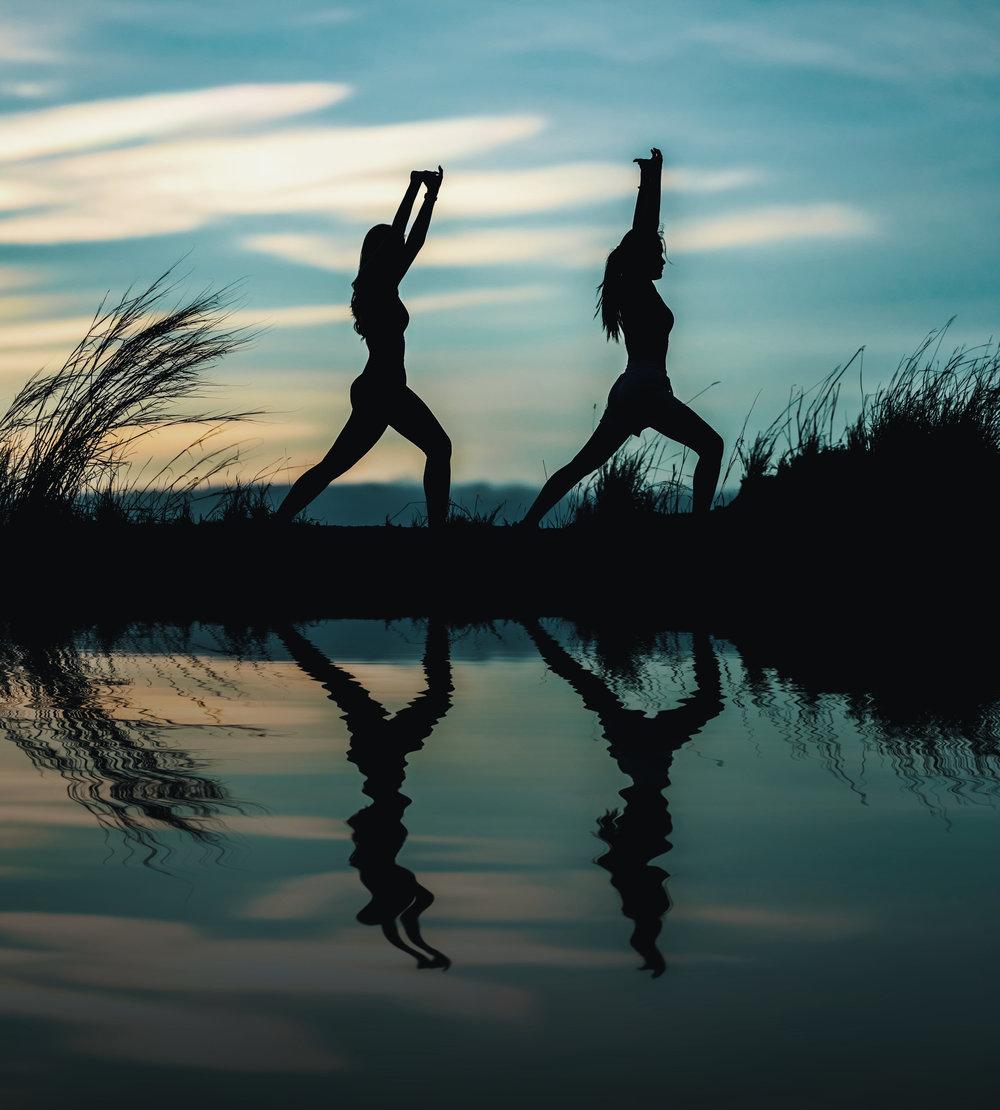 Gymnastik beim Fastenwandern