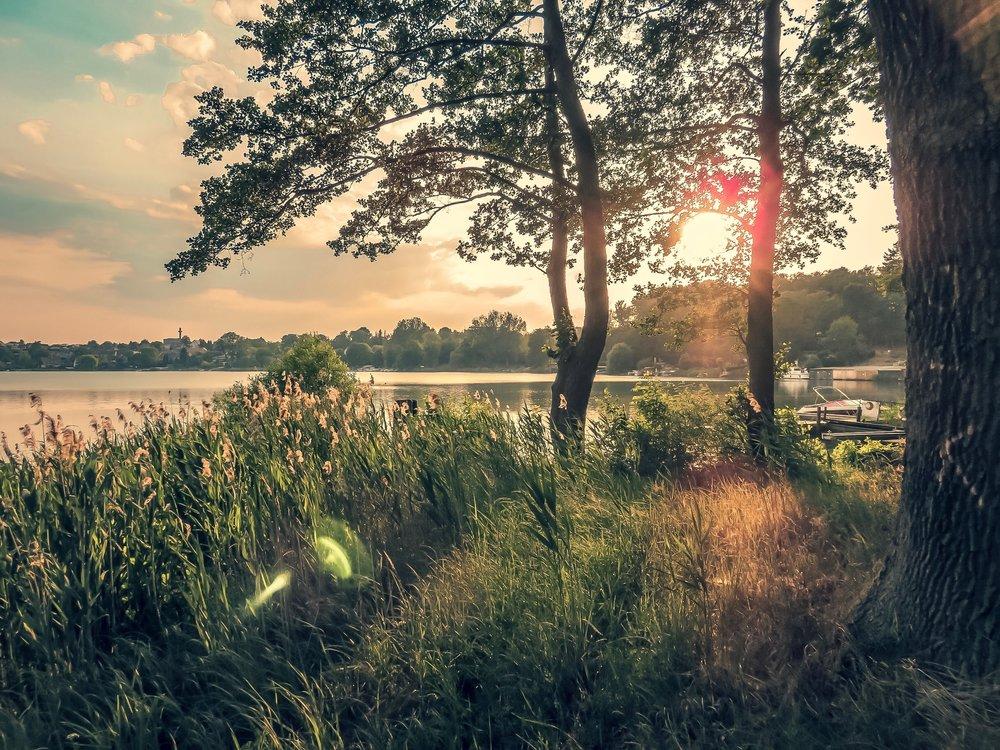 Sonnenuntergang in Flecken-Zechlin_Fastenwandern mit Fastenjens//https://fasten-jens.de/