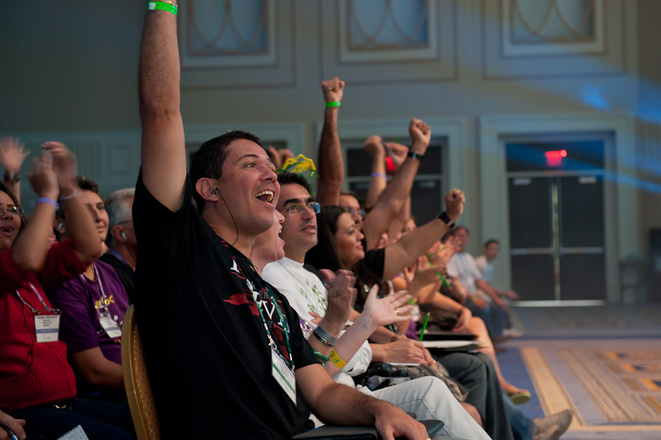 Forever Living Products 2011 International Super Rally with 3,500 sales professionals representing 140 countries collectively experiencing the universal language of story.