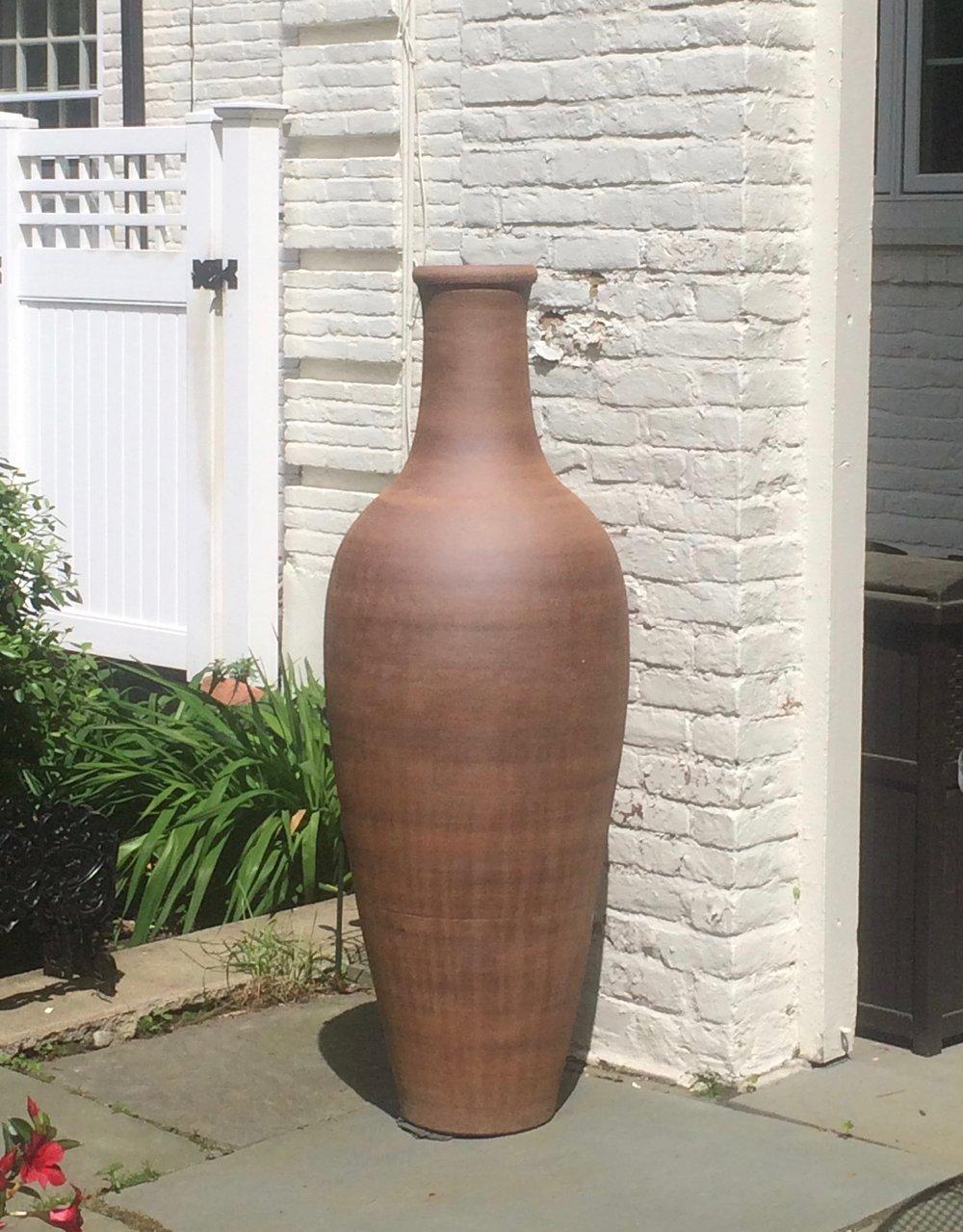 Classic bottle on patio