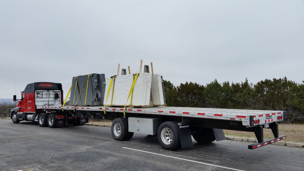 All trucks equipped with custom A-Frames for damage free shipping