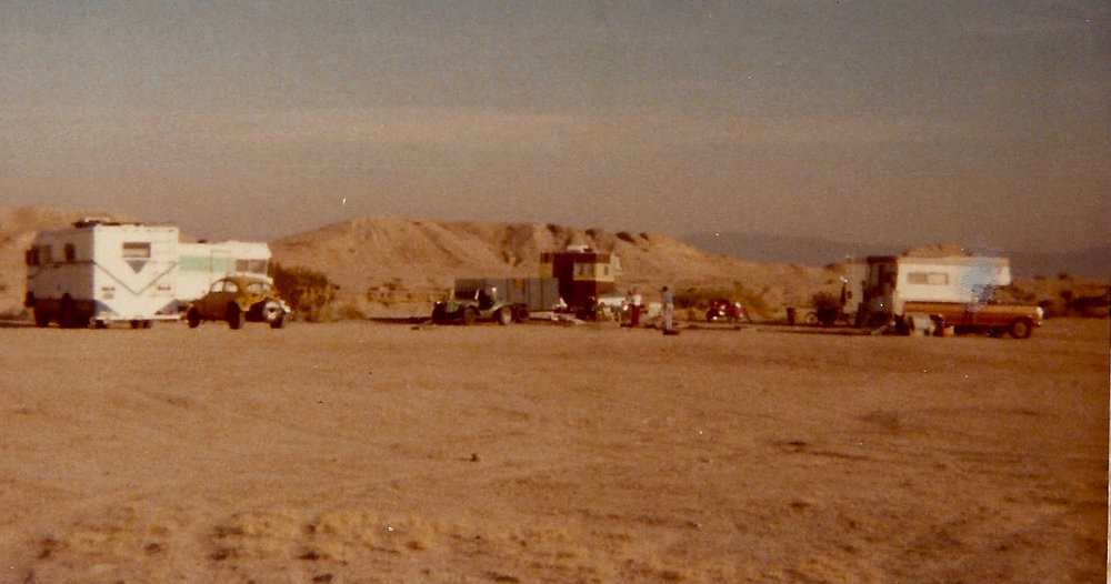 One of our family's many camping excursions to the California desert