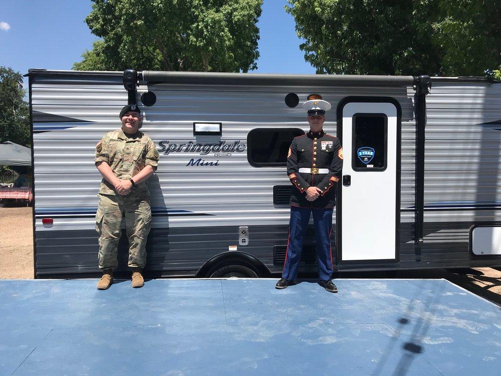 L-R; Staff Sergeant Cameron R. Bornowski, US Army; Staff Sergeant Joshua A. McCorkle, US Marine Corps.