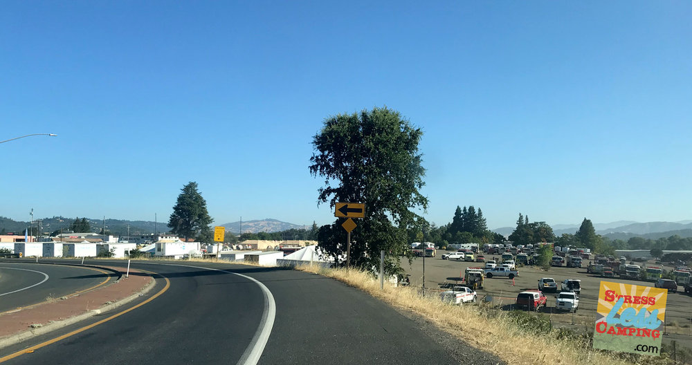Another shot of the fire camp as I exited the highway.
