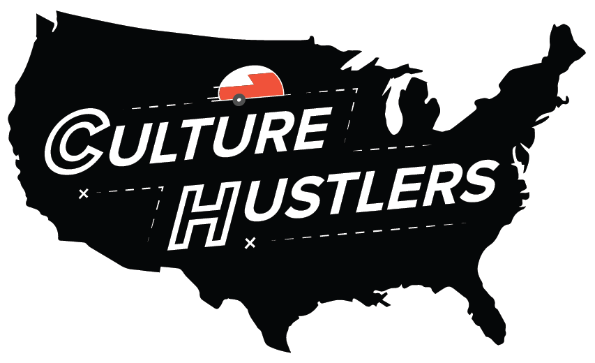 Click the image to find the  Culture Hustlers  podcast.