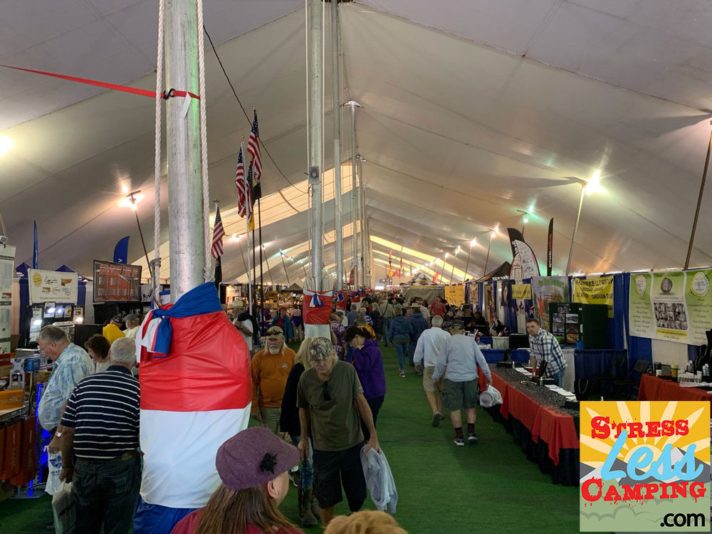 Big Tent - The big tent at the Quartzsite Sports, Vacation and RV show