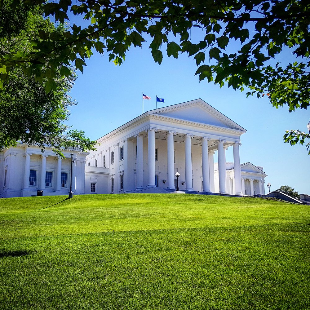 The Virginia State Capital building in Richmond.