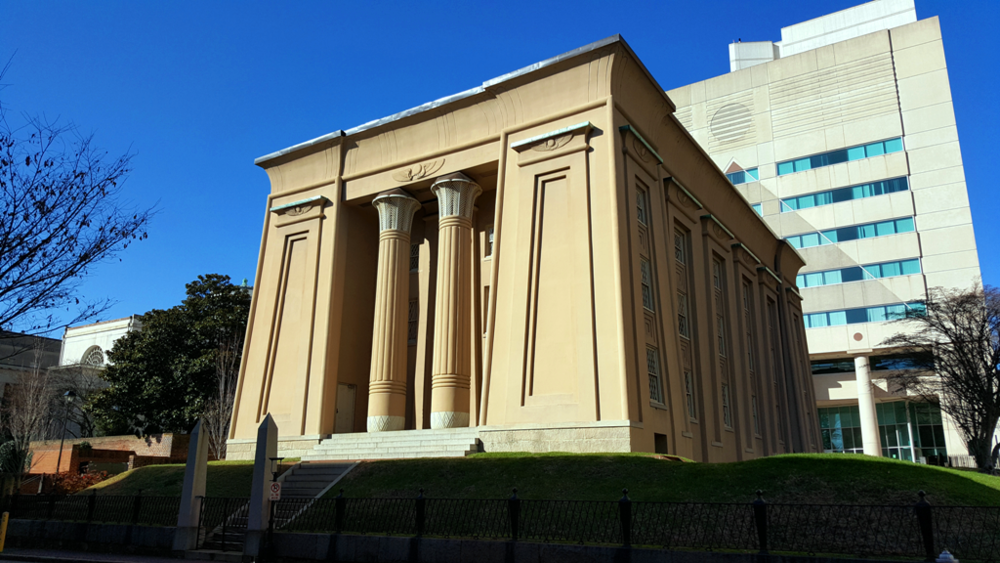 The Egyptian building built in 1845, part of VCU School of Medicine.