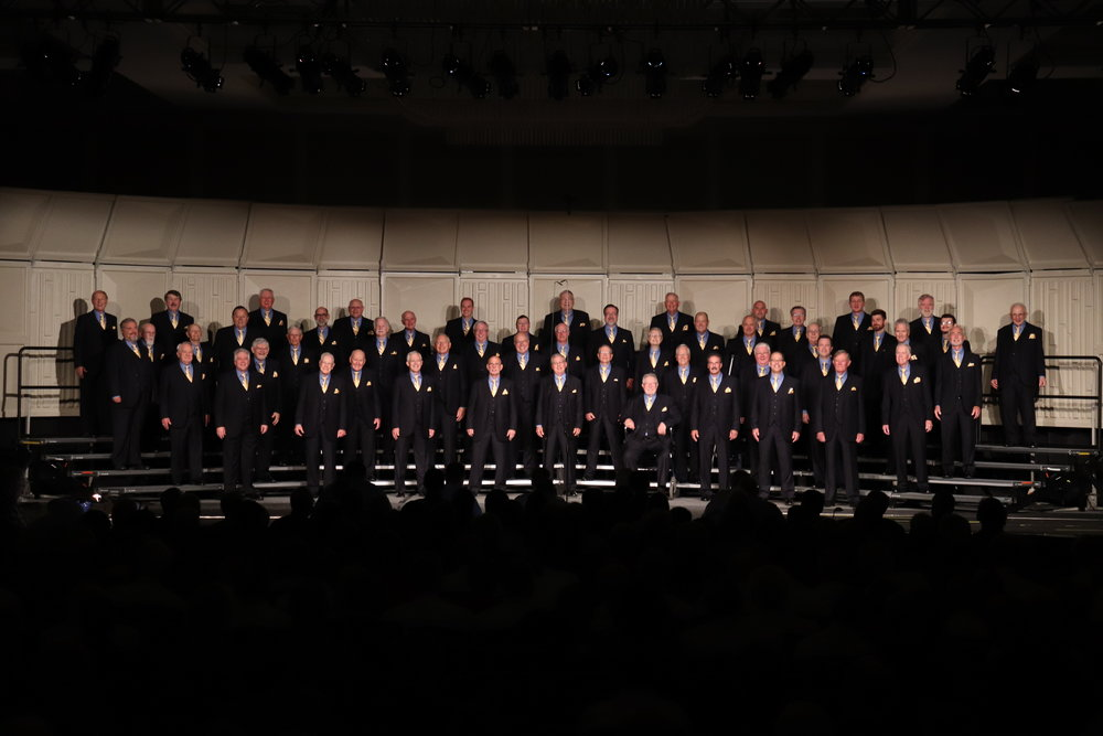 The Virginians Chorus on stage after singing our set.