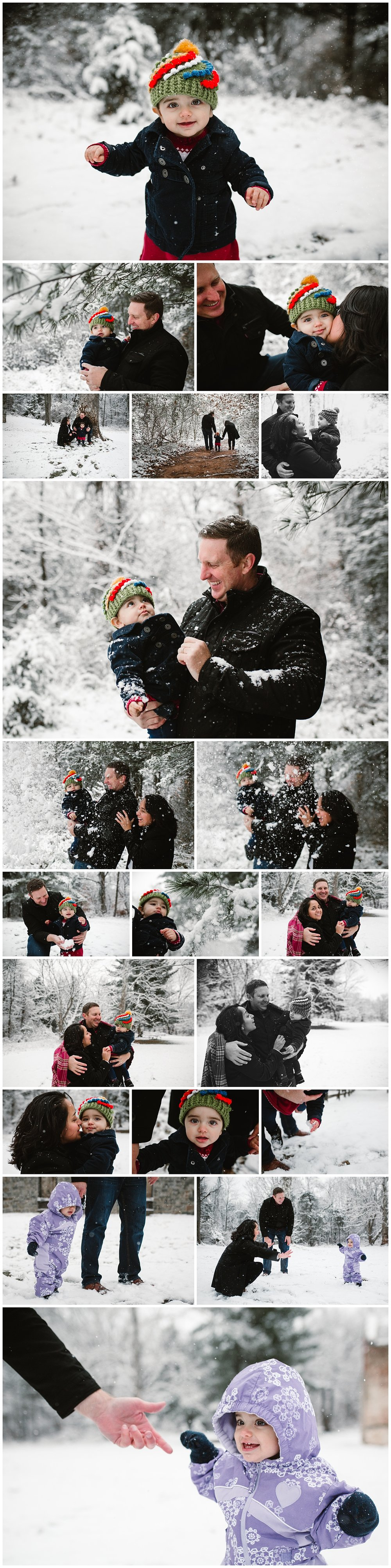 Leesburg Virginia Snowy Winter family photography