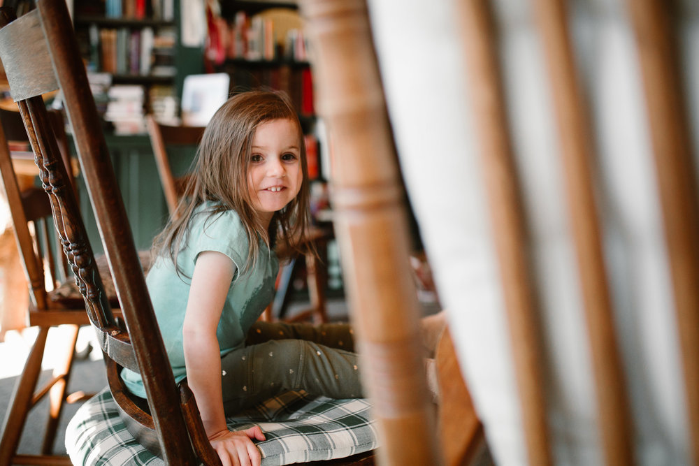 Reston Used Book Store Toddler Lifestyle Family Photography