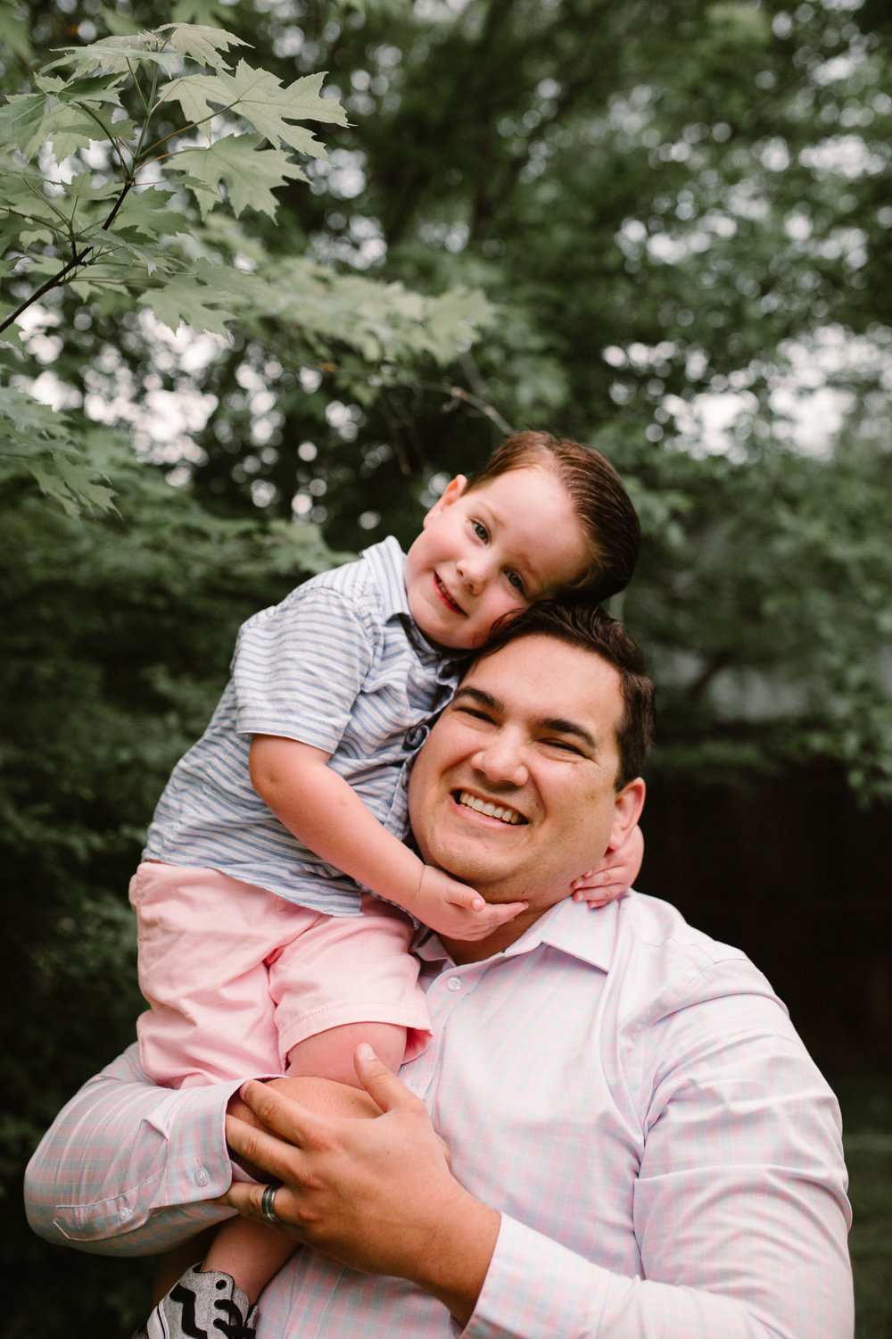 Father and son at Aldie Mill Lifestyle Family Photography
