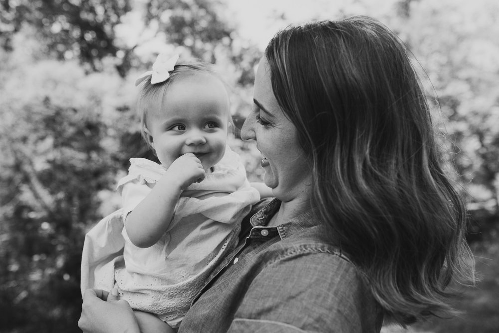 black and white Mother and Daughter family photography Colvin Run Mill Great Falls Virginia