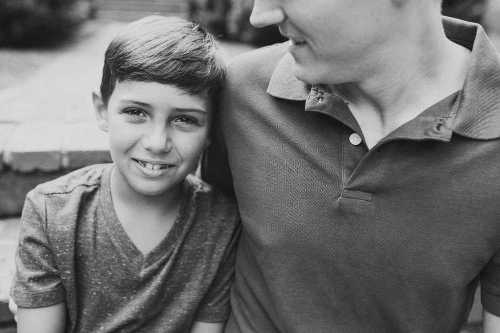 Black and white father son lifestyle family photography Marti Austin Morven Park Leesburg Virginia