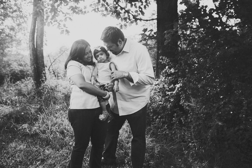 Black and white family toddler lifestyle Rust Nature Sanctuary Leesburg Loudoun County Virginia Marti Austin Photography