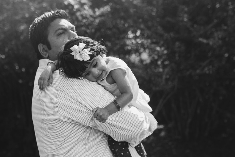 Black and white father daughter lifestyle family photography Morven Park Loudoun County Leesburg Virginia Marti Austin Photography