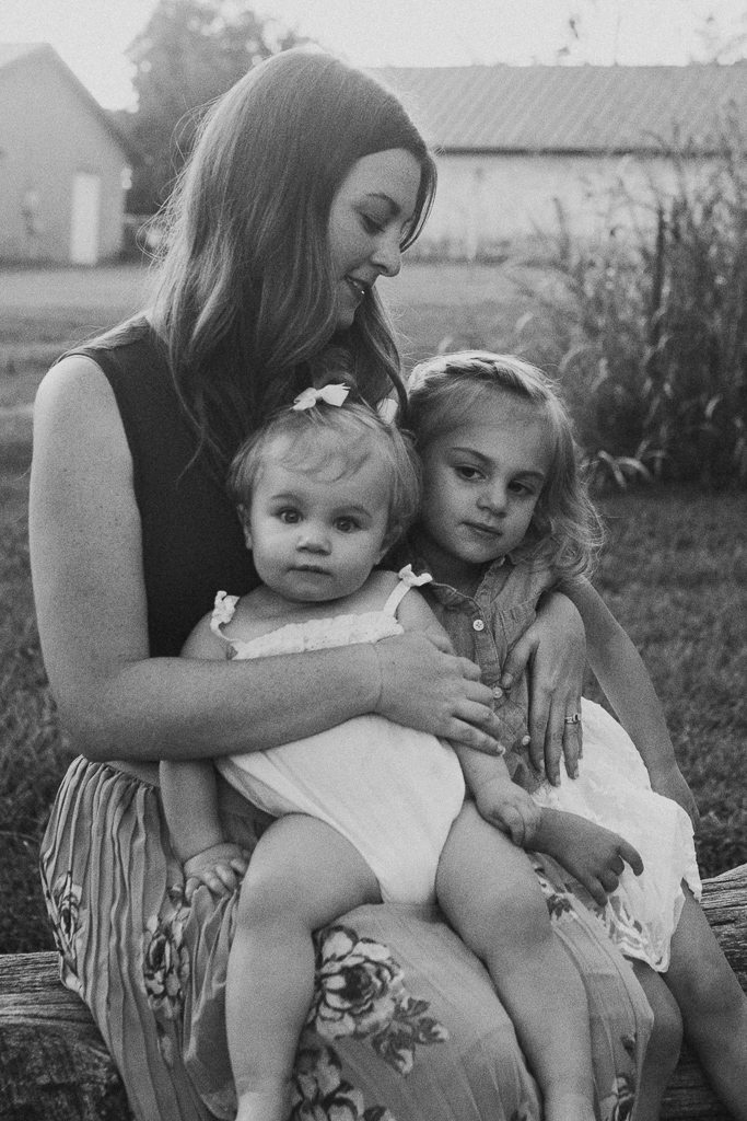 Black and white mother daughters sisters sibling family lifestyle photography Marti Austin Photography Rust Nature Sanctuary Leesburg Loudoun Virginia