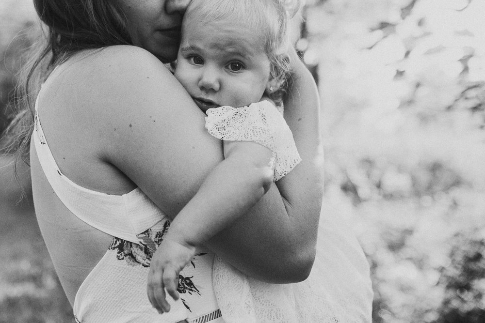 black and white toddler mother daughter cuddle family lifestyle photography Marti Austin Photography Rust Nature Sanctuary Leesburg Loudoun Virginia