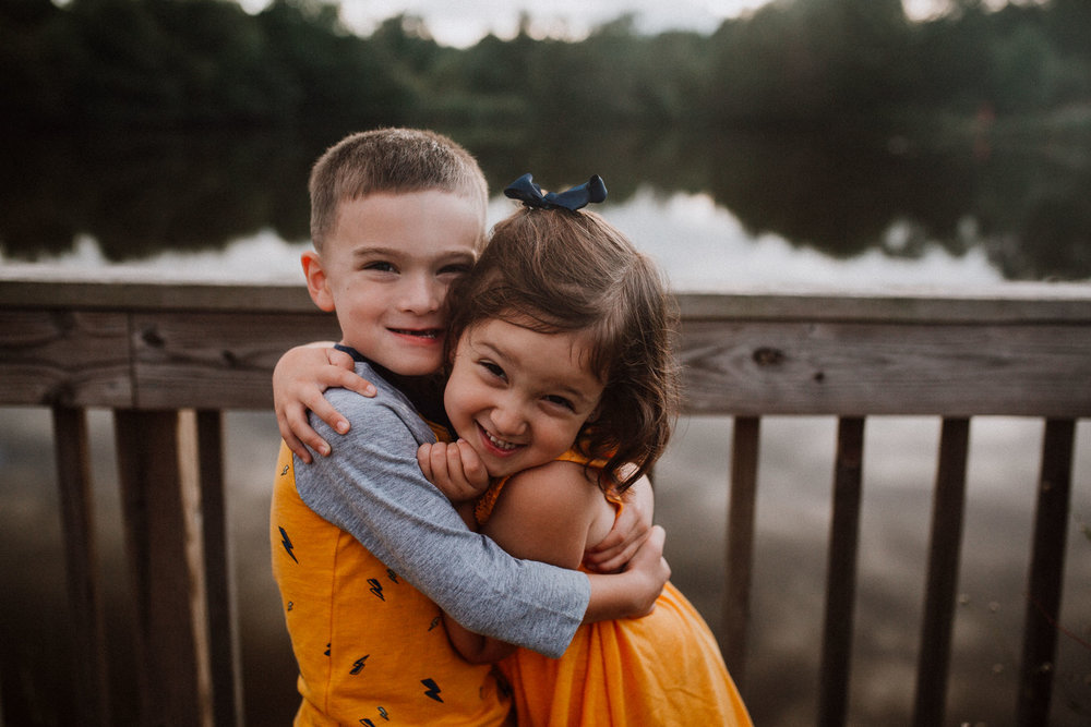 brother sister siblings sunset lake Claude Moore Park Heritage Farm Museum Sterling Virginia Lifestyle Documentary Fall Family Marti Austin Photography