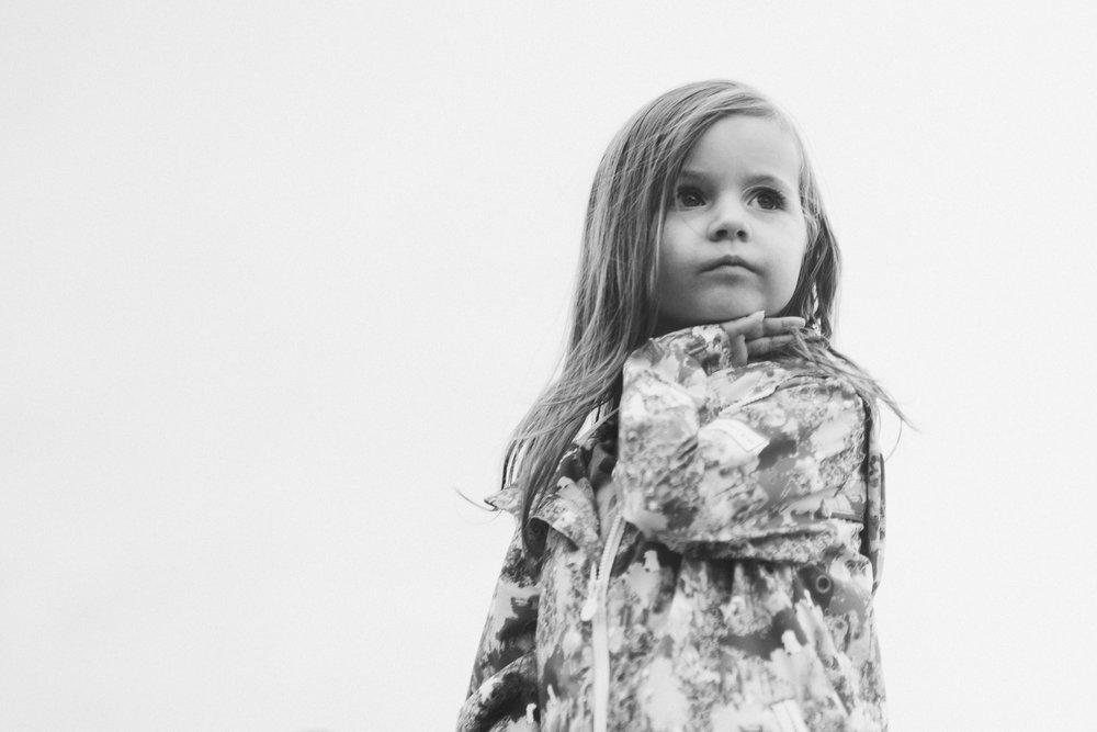 Black and white portriat Toddler Girl Ashburn Virginia Lifestyle Documentary Family Marti Austin Photography