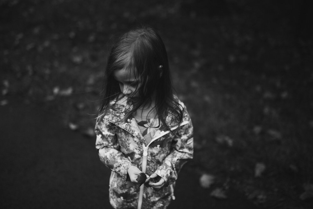 black and white portrait wind Toddler Girl Ashburn Virginia Lifestyle Documentary Family Marti Austin Photography
