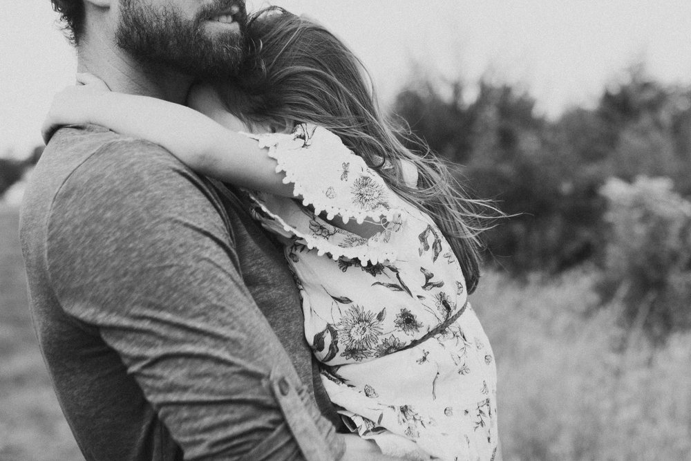 black and white father daughter hug Toddler Girl Ashburn Virginia Lifestyle Documentary Family Marti Austin Photography