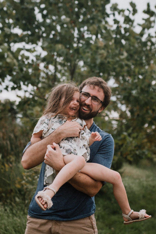 father daughter hug laugh Toddler Girl Ashburn Virginia Lifestyle Documentary Family Marti Austin Photography