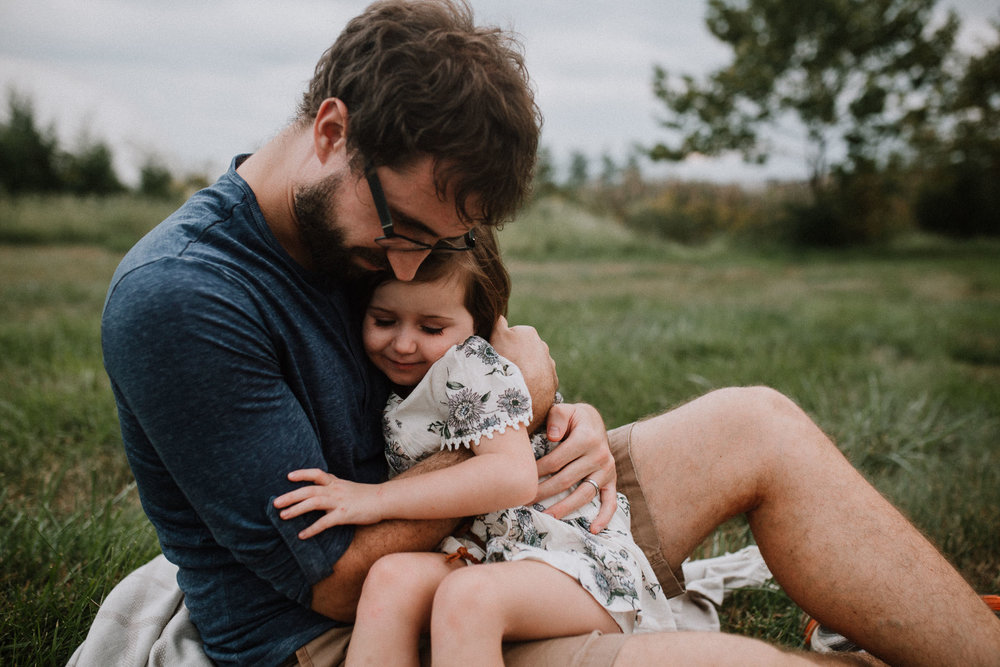 father daughter hug Toddler Girl Ashburn Virginia Lifestyle Documentary Family Marti Austin Photography