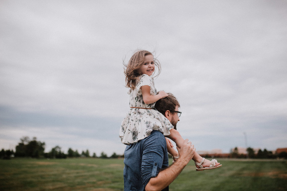 father daughter on shoulders Toddler Girl Ashburn Virginia Lifestyle Documentary Family Marti Austin Photography